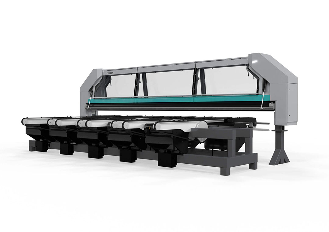 Microtec Finscan board scanner for sawmills